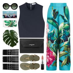 """Good Vibes, Good Times"" by sweet-jolly-looks on Polyvore featuring F.R.S. For Restless Sleepers, Elizabeth and James, Lancaster, Havaianas, MAC Cosmetics, Prada, Kate Spade and Monki"