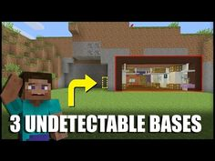 How to Make 3 Undetectable Base Entrances in Minecraft - YouTube