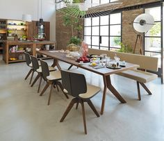 High-end solid hardwood dining table