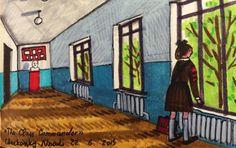 Zoya Cherkassky-Nnadi, Soviet Childhood, Markers on paper, 2005