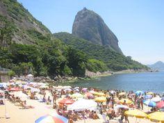 praia vermelha, rio de janeiro. Beautiful, calm beach, natural setting...