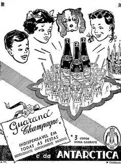 Anúncio do Guaraná Champagne, da Antarctica, com a assinatura refrigerante genuinamente nacional