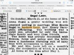 Segal-Leon wedding The Houston Post. (Houston, Tex.), Vol. 31, No. 362, Ed. 1 Sunday, April 1, 1917