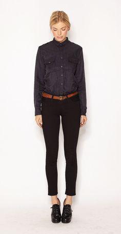 Cornelia military blouse by imogene+willie