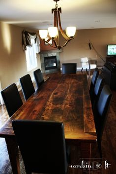 Pic: Our Reclaimed Wood Table with Parsons Chairs