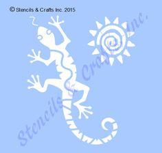 5 LIZARD GECKO STENCIL stencils reptile sun western