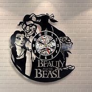 Wall clock made of vinyl record_Beauty And The Beast LIMITED OFFER 186