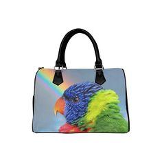 Rainbow Lorikeet Boston Handbag. FREE Shipping. #artsadd #bags #parrots