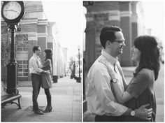 Classic Couple Portraits in Downtown Suffolk Virginia | Husband and Wife  Black and White Portraits | Virginia Photographers | Rowlands Photography