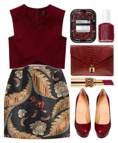 """""""Sem título #642"""" by andreiasilva07 ❤ liked on Polyvore featuring Dsquared2, Talula, Christian Louboutin, Essie, Yves Saint Laurent and ASOS"""