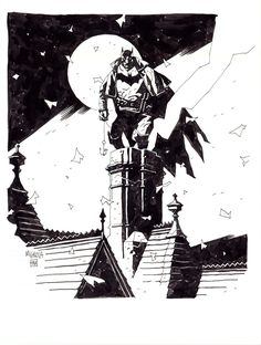 A really spectacular piece of art by Mike Mignola for Gotham By Gaslight...