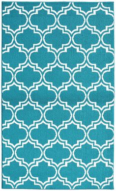 Garland Rug Silhouette Area Rug, 5 by 7-Feet, Teal/White ** Click image to review more details. (This is an affiliate link) #AreaRugsRunnersandPads