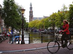 Biking Around Amsterdam - a great way to explore the City sights. Amsterdam, Travel Abroad, Culture Travel, Natural Disasters, Study Abroad, Health And Safety, Tool Design, Places Ive Been, Sustainability
