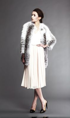 Jyune  Tiered Fox fur Coat - 1650 USD - For price information contact the seller directly.  More information coming soon.