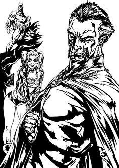 My fav. DC guys: Dark Knight Harley Ra's