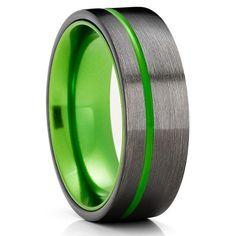 Green Tungsten Wedding Bands | Green Tungsten Wedding Rings – Clean Casting Jewelry Engraving Fonts, Custom Engraving, Laser Engraving, Black Tungsten Rings, Tungsten Wedding Rings, Free Ring, Tool Steel, Tungsten Carbide