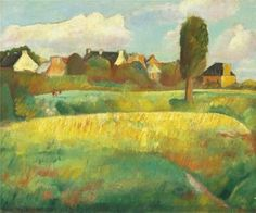 "Boris Grigoriev "" Landscape in Brittany """