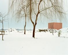 Luigi Ghirri Cemetery of San Cataldo, Modena; the ossuary in winter, 1986 Courtesy of the Luigi Ghirri Estate and Matthew Marks Gallery, New York © 2014 Eredi Luigi Ghirri. Image Courtesy of Barbican Art Gallery