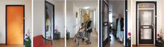 Welzijn True Doors are personalized adhesives for people who suffer from dementia. Due to their illness they'll lose their sense of locality. Especially in a large home for elderly it will be difficult to recognize the door to their own appartment. True Doors can help.