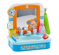 Check out the Laugh & Learn Let's Get Ready Sink at the official Fisher-Price website. Explore the world of Laugh & Learn today! Little Girl Toys, Cool Toys For Girls, Baby Girl Toys, Micro Creche, Baby Alive Dolls, Baby Doll Accessories, Interactive Toys, Toddler Play, Fisher Price