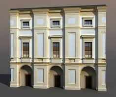 3d model apartment house - Apartment House #64 Low Poly 3d Model... by cerebrate