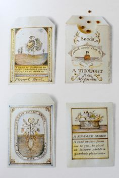 Seeds of Inspiration: DIY Seed Gift Envelopes In and Out of the Garden at Home Is Where the Boat Is seed packets DIY Garden Journal, Nature Journal, Junk Journal, Garden Illustration, Diy Envelope, Paper Crafts, Diy Crafts, Recycled Crafts, Garden Shop