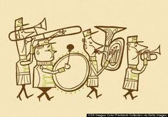 vintage marching band - Google Search
