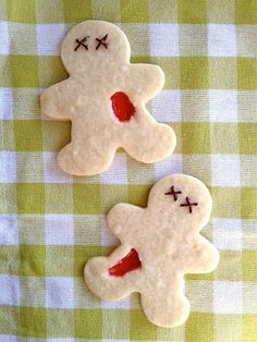 Fun for Halloween; gives your gingerbread boy cookie cutter another purpose...