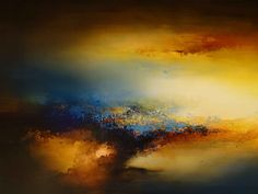 """Large Canvas Abstract Painting By Simon Kenny. """"Light of Eden"""""""