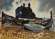 'The Old Neptune. Whitstable' by Roland Collins (gouache)