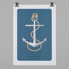 PAPER PLANE - Print - Fisherman Anchor