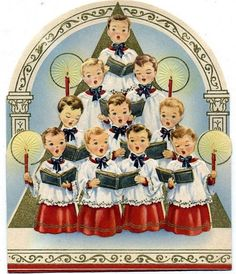 . These choir boy cards are going to look wonderful mixed in among my collection of choir boy figures!! I love Christmas!!