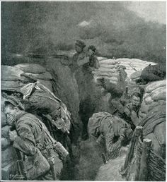 """24 April 1915 - 2nd Battle of Ypres. The Germans release a 2nd attack of chlorine gas, this time against the Cdn lines. ILLUSTRATION: There are no photos of the 2nd Battle of Ypres. The Canadians would not yet hire an official photographer for another year. And the British Army had confiscated all cameras in early 1915. We are left to the newspaper illustrations of the day. This one, called """"Men Under Gas"""" from the Times History of the War Illustrated, 1915."""