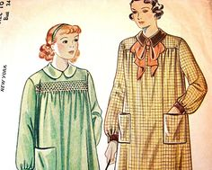 1940s Artist Smock Pattern Misses size 16 Simplicity Vintage Womens Sewing Pattern.