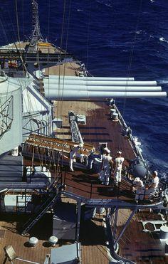 14″ guns, USS Idaho 1940.