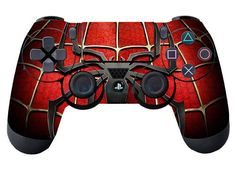 Red Cool Spider for PS4 Controller Playstation 4 Skin Sticker Cover Part Gift #UnbrandedGeneric #RedSpider