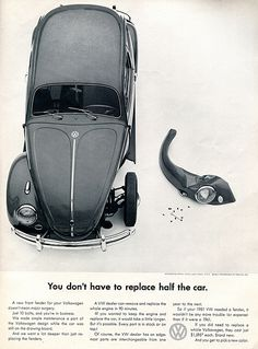 1961 Volkswagen Advertising Car and Driver September 1961
