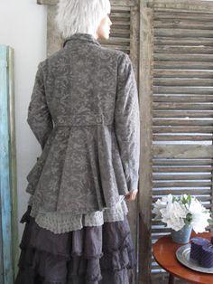 Printed corduroy jacket :   LES ARMOIRES D'HORTENSIA: La collection hiver de JAYKO est là..........