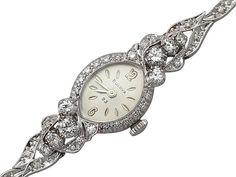 1.80 ct Diamond and 14 ct White Gold Cocktail Watch - Art Deco - Vintage Circa 1950 SKU: A2174 Price GBP £1,795.00 http://www.acsilver.co.uk/shop/pc/1-80-ct-Diamond-and-14-ct-White-Gold-Cocktail-Watch-Art-Deco-Vintage-Circa-1950-35p7419.htm#.VWQhxk9VhBc