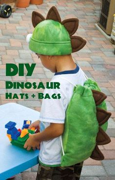DIY Dinosaur Favor Bags and Hats