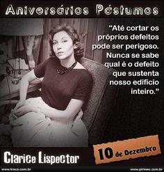 Clarice Lispector    #Clarice #Lispector #aniversário #citação #citações #frase #frases #postumo