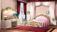 Yuari's new room in the new mansion