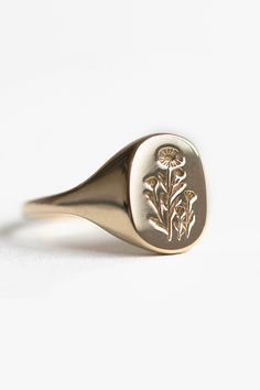 Daisy Signet Ring by Claus Jewelry