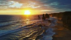 #sunset #great #ocean #road #victoria #australia #12 #apostel #12apostles #sea #sun #waves #beautiful #roadtrip #beach by phillipschmuck http://ift.tt/1ijk11S