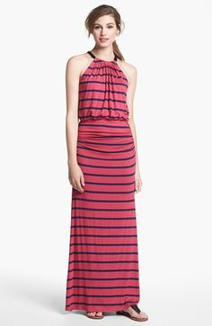 Everleigh Bow Back Halter Maxi Dress | Nordstrom