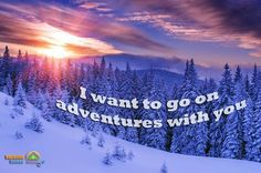Start this week inspired! Go on adventures! #travel #vacation #holiday #winter