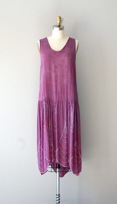 1920s beaded silk dress