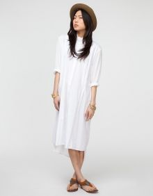 White Longsleeve Shirt Dress