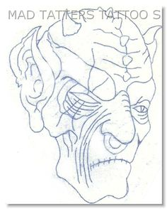 Old Demon - $60 (Originally $120) Demon Tattoo, Tattoo Outline, Outlines, Drawing Ideas, Drawings, Art, Ideas For Drawing, Art Background, Kunst
