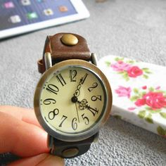 Women Leather Watch---Two color optional,Trendy Retro Design on Etsy, $19.99